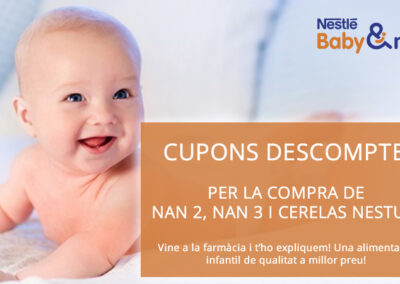 Promoció llets i cereals infantils Nestle